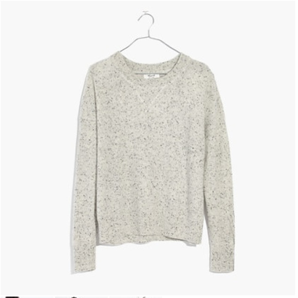 Madewell Cashmere Sweatshirt in Ash Donegal Size S